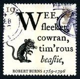 Robert Burns Poem UK Postage Stamp Royalty Free Stock Photos
