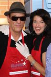 Robert Davi. And Joan Severence  at the Hollywood Chamber Of Commerce 17th Annual Police And Fire BBQ, Private Location, Hollywood, CA 11-30-11 Royalty Free Stock Images
