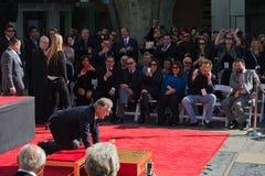 Robert De Niro Chinese Theatre. LOS ANGELES - FEBRUARY 04 : Robert De Niro at the Handprint Ceremony at Chinese Theatre for Robert De Niro, at 6925 Hollywood Stock Photos