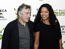 Robert De Niro; Grace Hightower. NEW YORK - APRIL 21: Robert De Niro and Grace Hightower attend the 'Shrek Forever After' premiere during the 2010 Tribeca Film stock images
