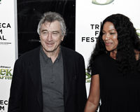 Robert De Niro; Grace Hightower. NEW YORK - APRIL 21: Robert De Niro and Grace Hightower attend the 'Shrek Forever After' premiere during the 2010 Tribeca Film stock photos