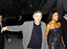 Robert De Niro and Grace Hightower. APRIL 20: Robert De Niro and Grace Hightower arrive at Vanity Fair Party at Tribeca Film Festival on April 20, 2010 in New royalty free stock photography