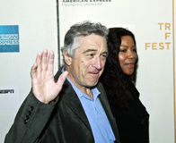 Robert De Niro; Grace Hightower. NEW YORK - APRIL 23: Robert De Niro; Grace Hightower attend 'Straight Outta L.A.' presented by ESPN Gala during the 2010 Tribeca stock photo