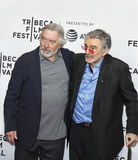 Robert DeNiro and Burt Reynolds. Award-winning actor and co-founder of the Tribeca Film Festival Robert DeNiro, accompanies actor Burt Reynolds as they arrive Stock Photography
