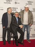 Robert DeNiro, Burt Reynolds, and Chevy Chase. arrives on the red carpet for the premiere of `Dog Years` at the 2017 Tribeca Film Festival, at the Cinepolis Stock Photos