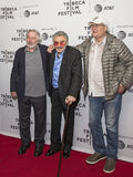 Robert DeNiro, Burt Reynolds, and Chevy Chase. arrives on the red carpet for the premiere of `Dog Years` at the 2017 Tribeca Film Festival, at the Cinepolis Royalty Free Stock Photography