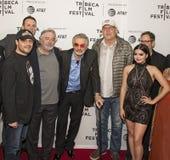 Robert DeNiro, Burt Reynolds, Chevy Chase, en Ariel Winter bij `-de Première van het de Filmfestival van Tribeca van Hondjaren `  Royalty-vrije Stock Foto