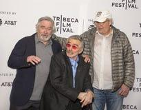 Robert DeNiro, Burt Reynolds, et Chevy Chase Images stock