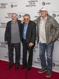 Robert DeNiro, Burt Reynolds, et Chevy Chase Image stock