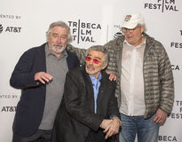 Robert DeNiro, Burt Reynolds und Chevy Chase Stockbilder