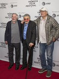Robert DeNiro, Burt Reynolds und Chevy Chase Stockbild