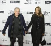 Robert DeNiro och Grace Hightower Kick Off 17th Tribeca filmfestival arkivbild