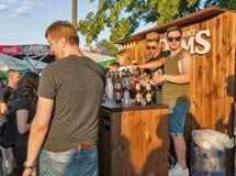 Robert Doms-bierbarmannen bij het Festival van het Atlasweekend Kiev, de Oekraïne royalty-vrije stock fotografie