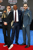 Robert Downey Jr., Anthony Mackie and Chris Evans. At the World premiere of 'Captain America: Civil War' held at the Dolby Theatre in Hollywood, USA on April 12 Stock Photo