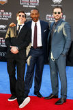 Robert Downey Jr., Anthony Mackie and Chris Evans. At the World premiere of 'Captain America: Civil War' held at the Dolby Theatre in Hollywood, USA on April 12 Stock Photography