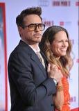 Robert Downey jr Downey & Susan Obrazy Stock