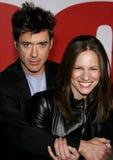 Robert Downey Jr en Susan Downey stock foto