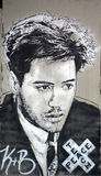 Robert Downey Jr. mural Royalty Free Stock Photos