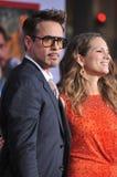 Robert Downey Jr & Susan Downey stock foto's