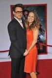 Robert Downey Jr & Susan Downey royalty-vrije stock foto's