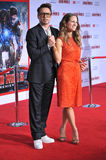Robert Downey Jr & Susan Downey stock afbeelding