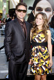 Robert Downey Jr. and Susan Downey. At the Los Angeles Premiere of `Orphan` held at the Mann Village Theater in Westwood, California, United States on July 21 royalty free stock photos