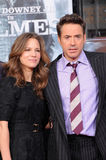 Robert Downey Jr,Susan Levin. Robert Downey Jr. and wife Susan Levin  at Robert Downey Jr. Hand and Footprints Ceremony, Chinese Theater, Hollywood, CA. 12-07-09 Stock Image