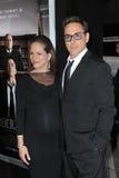 Robert Downey Jr u. Susan Downey lizenzfreie stockbilder