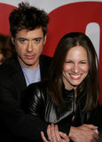 Robert Downey Jr und Susan Downey lizenzfreie stockfotos