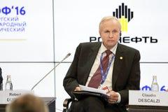 Robert Dudley. SAINT-PETERSBURG, RUSSIA - JUN 16, 2016: St. Petersburg International Economic Forum SPIEF-2016. Robert Dudley, Group Chief Executive, BP Stock Image