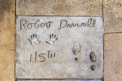 Robert Duvalls handprints Stock Image