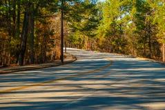 Robert E Lee Boulevard im Steingebirgspark, Georgia, USA Lizenzfreie Stockfotos