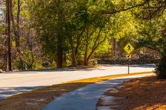 Robert E Lee Boulevard in Stone Mountain Park, Georgia, USA. Robert E Lee Boulevard in the Stone Mountain Park in sunny autumn day, Georgia, USA Stock Photography