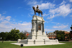 Robert E. Lee Monument. On Monument Avenue in Richmond, Virginia Stock Photo