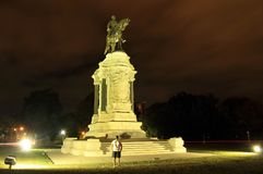 Robert E. Lee Monument. Civil War monuments such as the Robert E. Lee statue on Monument Avenue in Richmond, Virginia, represent key points of contention in Stock Images