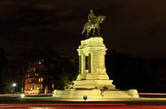 Robert E. Lee Monument. Civil War monuments such as the Robert E. Lee statue on Monument Avenue represent key points of contention in contemporary U.S. politics Stock Image
