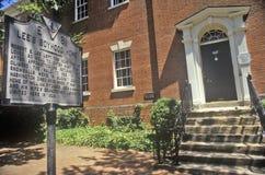 Robert E. Lees boyhood home in Old Town Alexandria, Alexandria, Washington, DC Stock Image
