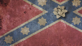 Robert Edward Lee Day. Confederate Flag. On Concrete and RIbbon Royalty Free Stock Images
