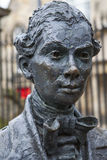Robert Fergusson Statue em Edimburgo imagem de stock royalty free