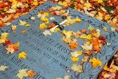 Robert Frost Grave, Bennington, Vermont foto de archivo libre de regalías