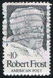 Robert Frost. UNITED STATES - CIRCA 1974: stamp printed by United states, shows Robert Frost, circa 1974 Royalty Free Stock Photo