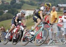 Robert Gesink and Bauke Mollema Tour de France 2015 Royalty Free Stock Photos