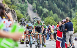Robert Gesink Climbing Alpe D'Huez Photos stock