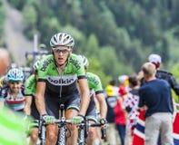 Robert Gesink Wspina się Alpe d'Huez Zdjęcia Royalty Free