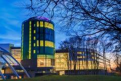 Robert Gordon University (RGU) à Aberdeen pendant le lever de soleil Photographie stock libre de droits
