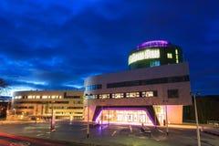 Robert Gordon University (RGU) à Aberdeen pendant le lever de soleil Photos stock