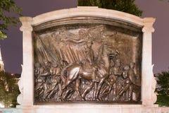 Robert Gould Shaw ed il cinquantaquattresimo monumento del reggimento fotografia stock libera da diritti