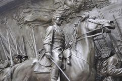 Memorial Robert Gould Shaw and 54th Regiment from Boston in Massachusettes State of USA Stock Photography