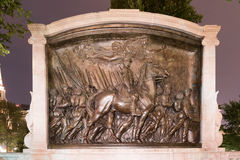 Robert Gould Shaw and the 54th Regiment Monument. The Robert Gould Shaw and Massachusetts 54th Regiment Memorial, located across Beacon Street from the State royalty free stock photo