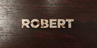 Robert - grungy wooden headline on Maple  - 3D rendered royalty free stock image Stock Photography